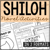 SHILOH Novel Study Unit Activities, In 2 Formats