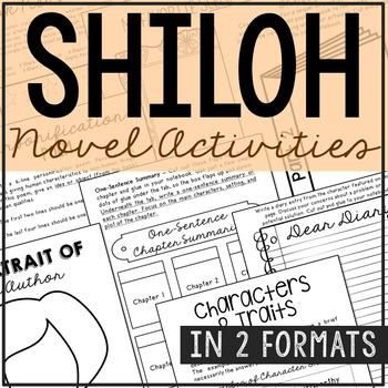 Shiloh Interactive Notebook Novel Unit Study Activities, V