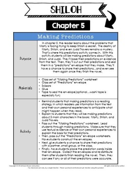 Shiloh Lessons and Activities - 16 Engaging Chapter-by-Chapter Activities