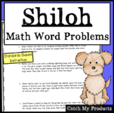 Shiloh Novel : Math Word Problems to Accompany a Book Study