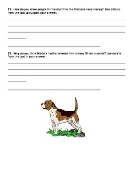 Shiloh Novel Quiz Chapter 6-10
