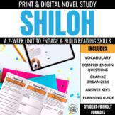 Shiloh Novel Unit Bundle: Print & Digital Novel Study Bundle