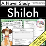 Shiloh Novel Study Unit: comprehension, vocabulary, activities, tests