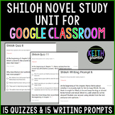 Shiloh Novel Study for Google Classroom (Distance Learning)