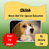 Shiloh Novel Study for Special Education with comprehension questions