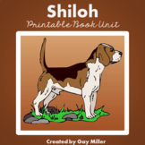 Shiloh Novel Study: vocabulary, comprehension questions, writing, skills