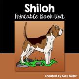 Shiloh Novel Study: vocabulary, comprehension questions, writing, skills