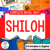 Shiloh Novel Unit | Google Classroom Compatible | Distance Learning