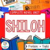 Shiloh Novel Unit   Google Classroom Compatible   Distance