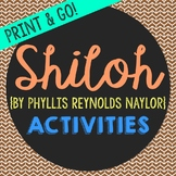 Shiloh Novel Unit Study Activities, Book Companion Workshe