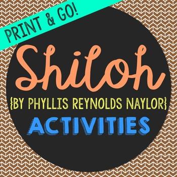 Shiloh Novel Unit Study Activities, Book Report, Vocabulary