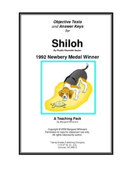 Shiloh Chapter-by-Chapter Objective Tests Teaching Guide