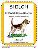 Shiloh by Phillis Reynolds Naylor Comprehension Questions, Vocabulary, and Test