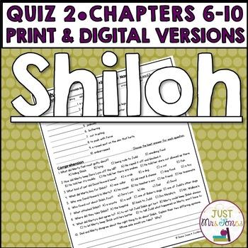 Shiloh Quiz 2 (Ch. 6-10)