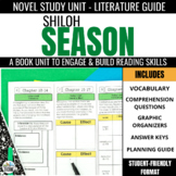 Shiloh Season Novel Study Unit