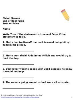 Shiloh Season Book Companion