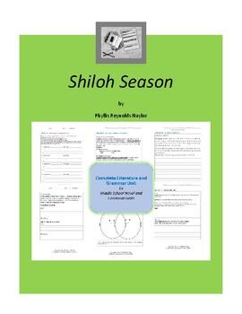 Shiloh Season Complete Literature and Grammar Unit