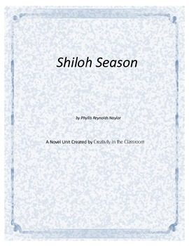 Shiloh Season Novel Unit Plus Grammar