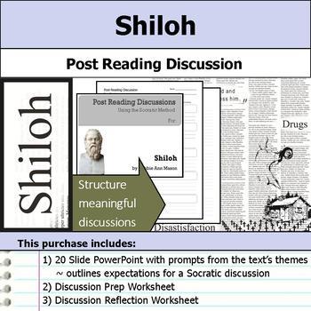 Shiloh - Socratic Method - Post Reading Discussions