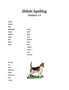 Shiloh Spelling List 1-4