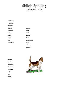 Shiloh Spelling List 13-15