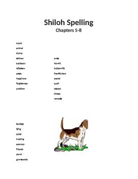 Shiloh Spelling List 5-8