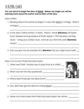 Shiloh Teaching Guide