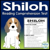 Shiloh Test: Shiloh Quiz (4-Page Test with Answer Key)