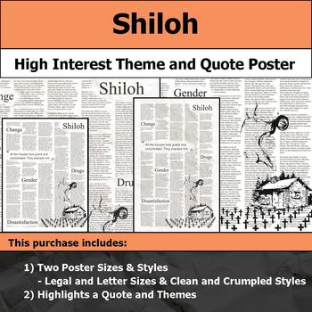 Shiloh by Bobbie Ann Mason - Visual Theme and Quote Poster for Bulletin Boards