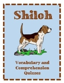 Shiloh Vocabulary Chapters 12-15