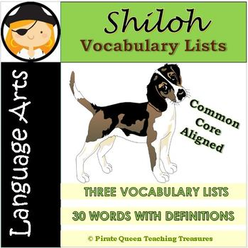 Shiloh Vocabulary Lists