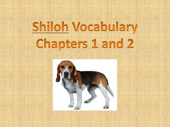 Shiloh Vocabulary Pack