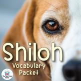 Shiloh Vocabulary Packet