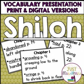 Shiloh Vocabulary Presentation
