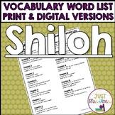 Shiloh Vocabulary Word List