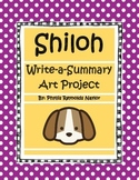 Shiloh Write-a-Summary Art Project