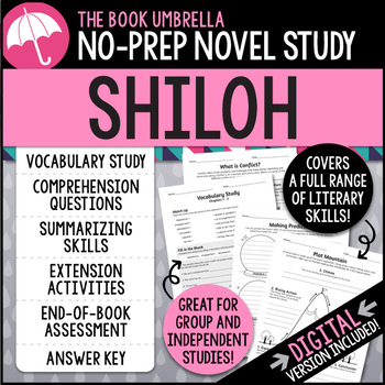 Shiloh Novel Study - Distance Learning - Google Classroom compatible