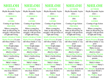 Shiloh edition of Bookmarks Plus—Fun Freebie & A Handy Little Reading Aid!