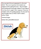 Shiloh end of unit assessment