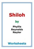 """Phyllis Reynolds Naylor """"Shiloh"""" worksheets"""