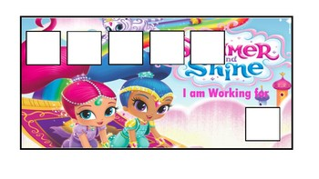 Shimmer and Shine Token Economy Board