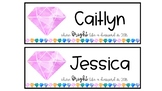 Shine BRIGHT like a diamond desk plates - Editable