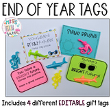 End of the Year EDITABLE Gift Tags - Shine Bright