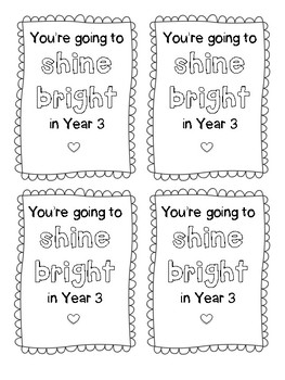 Shine Bright Highlighter Gift Tags