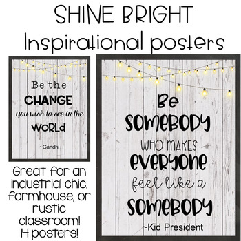 Shine Bright Inspirational Posters