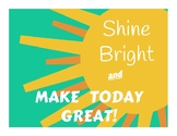 Shine Bright Poster and Bookmarks
