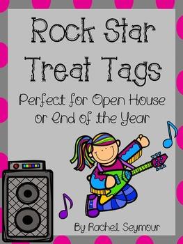 Rock Star Treat Tags Freebie