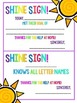Shine Signs!  Little praise notes to send home with your students!