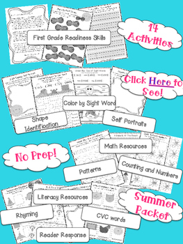Shine in First Grade: NO PREP Summer Readiness Checklist {freebie}