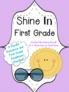 Shine in First Grade: NO PREP Summer Readiness Checklist {